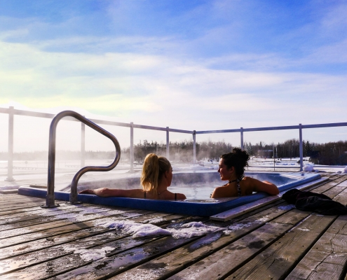 Hot Tub at Wilderness Edge