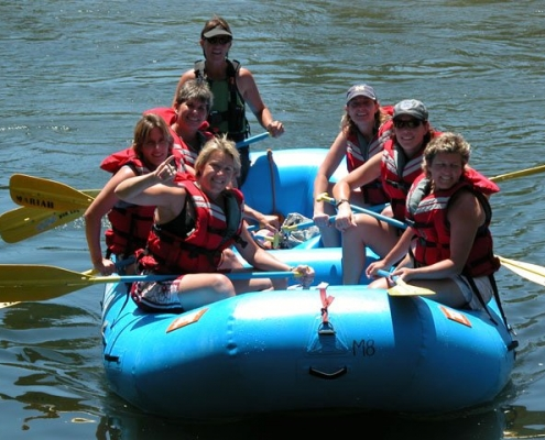 Gentle rafting down Pinawa Channel for group retreats