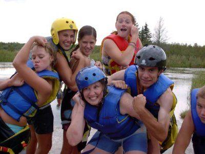 group retreats enjoy body surfing