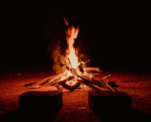 camp fire for group retreats