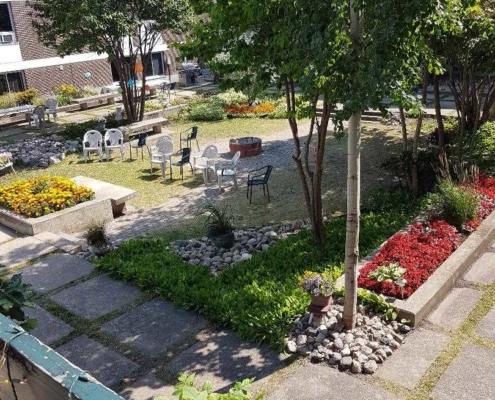 courtyard at wilderness edge