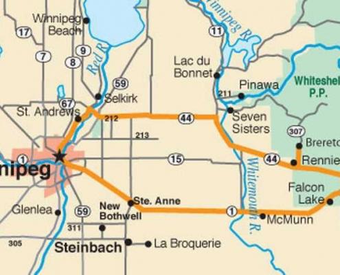 whiteshell provincial park map