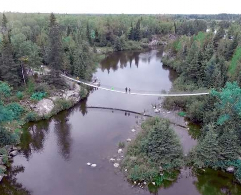 swinging bridge wilderness edge