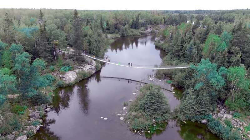 Swinging Bridge as part of a walking trail from Wilderness Edge