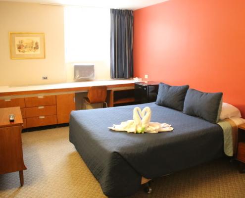 Queen bed room main floor 1960s style