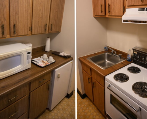 Kitchen within suite